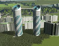 [3D Design] Pyongyang - Ryomyong Street Apartment