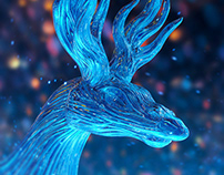 Abstract animal renders