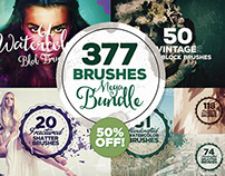 377 Brushes Megabundle for Adobe Photoshop