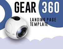Samsung Gear 360 Landing Page Design Idea