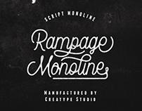 Rampage Monoline - Free Script Font