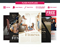 5 FREE POSTCARD FLYERS FITNESS BUNDLE