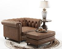 3D Model   Hooker Furniture   Alexa Armchair