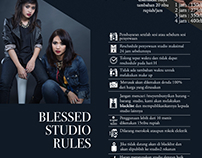 Blessed Studio Rules Poster