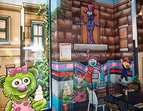 New York New York Restaurant Mural