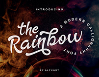 The Rainbow a modern calligraphy font #fontself