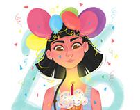 It's my birthday illustration