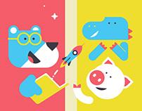 MADO - illustration set
