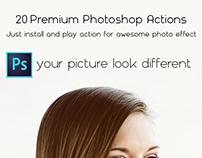 20 Premium Photoshop Actions