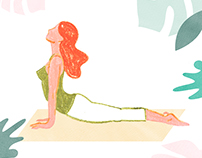 Yoga Illustrationen Glamour online
