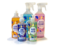 Packaging Illustration for home cleaning products
