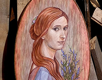 portrait of a girl with heather