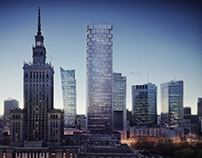 Skyscraper, Warsaw City Centre, Poland