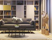 Sala de estar e leitura