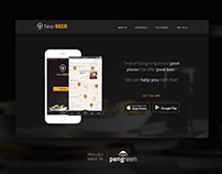 Daily UI Challenge 003 - Landing page (above the fold)