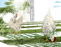 Illustration | Green City | Urban Farming, Urban Garden