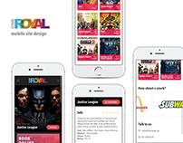 Cinema responsive website - mobile view