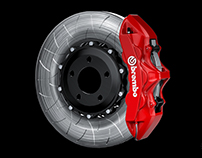 Forged wheel + Brembo brakes