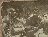 Wilt vs Shaq Vintage Photograph