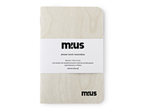 MIUS Wooden Notebook - Alder