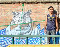 Mural with Viva con Agua