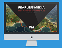 Powerpoint Template Design - Fearless Media