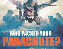 Who Packed your Parachute? Flyer Template