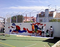 Wall painting with Little Big Artists