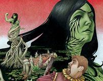 Book Cover Illustration for Shakespeare Shaken