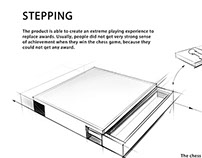 Stepping chess design