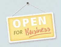 Online Store Closure Illustrations