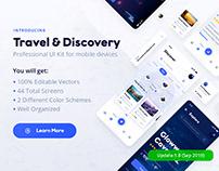 Travel & Discovery Ui Kit (Adobe XD & Photoshop)