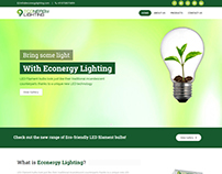 Homepage Design for Eco-friendly Bulbs Store