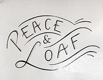 STAPLE Bakery - Peace & Loaf Lettering Mural