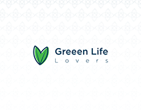 Green life lovers logo