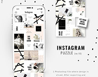 Instagram PUZZLE template - Pink