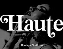 HAUTE - FREE LUXURY SERIF FONT