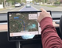 Augmented Reality Tesla Windshield