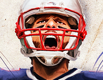 • NFL paintings for Blitz Magazine •