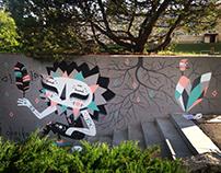Mural @ Rural Urban Art festival in Põlva