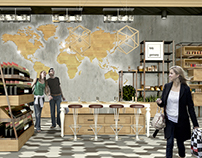 Organic supermarket - INTERIOR DESIGN project