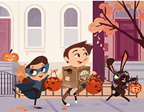 Company Halloween Illustration