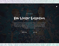KENZO new collection promotion page