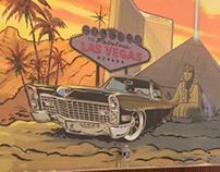 Vegas Palm restaurant mural