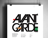 Are you AVANT GARDE? font poster and flyer
