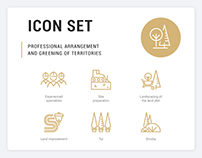 Professional Terrirories Arrangement and Greening Icons