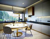 VIZprofistudio Luxury Warm Apartments Visualization, 3D