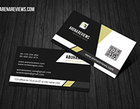 Free Modern Corporate Black & White Business Card