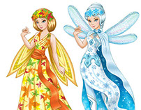 Paper dolls and clothes