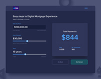 Calculator for Digital Mortgage Experience